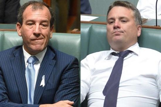 Bộ trưởng Mal Brough (trái) và Jamie Briggs từ chức là biến động lớn đối với chính phủ của Thủ tướng Turnbull. (Nguồn: AAP)