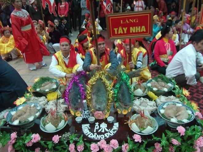 Độc đáo trong hội thi cỗ cá đền Trần Thái Bình