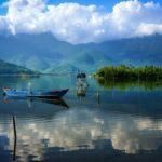 Khung cảnh thiên nhiên đẹp tựa tranh vẽ của đầm Lập An